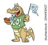 Happy Crocodile Celebrating...