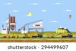Vector Cement Factory And Work...
