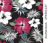 floral seamless pattern  ... | Shutterstock .eps vector #294501137