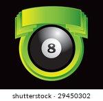 green crest with eight ball | Shutterstock .eps vector #29450302