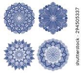 mandala. round ornament pattern. | Shutterstock .eps vector #294505337