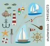 random sea  ocean items ...   Shutterstock .eps vector #294518273