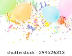 balloons  streamers  and...   Shutterstock . vector #294526313
