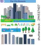 Flat City Elements Set....
