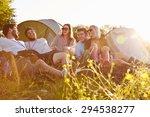 group of friends relaxing... | Shutterstock . vector #294538277