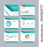 business presentation template set.powerpoint template design backgrounds  | Shutterstock vector #294582977