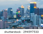 view of city night abstract... | Shutterstock . vector #294597533