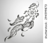 dream catcher  feathers and...   Shutterstock .eps vector #294599873