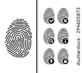 fingerprint icons set | Shutterstock .eps vector #294605873