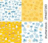 set of vector sketch hand drawn ... | Shutterstock .eps vector #294607283