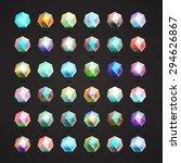polygonal crystal | Shutterstock .eps vector #294626867