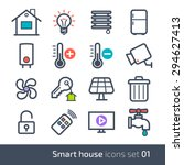 smart house technology system... | Shutterstock .eps vector #294627413