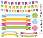 vector bunting  banner ribbons... | Shutterstock .eps vector #294627797