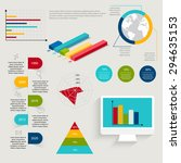 set of infographics elements in ... | Shutterstock .eps vector #294635153