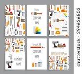 identity card template. six... | Shutterstock .eps vector #294636803