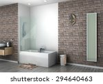 modern bathroom interior... | Shutterstock . vector #294640463