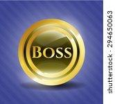 boss gold shiny emblem   Shutterstock .eps vector #294650063
