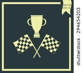 racing flag and cup winner | Shutterstock .eps vector #294654203