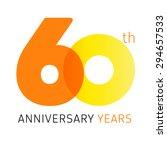 60 years old celebrating... | Shutterstock .eps vector #294657533