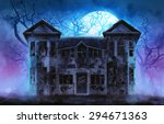 Haunted Horror House. Old...