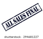 All Sales Final Stamp