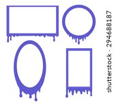 vector set of frames with... | Shutterstock .eps vector #294688187