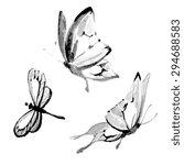 butterflies design | Shutterstock . vector #294688583