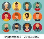 circle of flat icons on colored ... | Shutterstock .eps vector #294689357