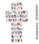 achievement idea team over...   Shutterstock . vector #294698567