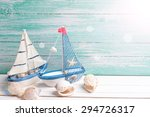 decorative sailing boats and... | Shutterstock . vector #294726317