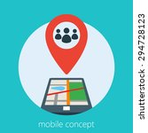 mobile concept of a geo...