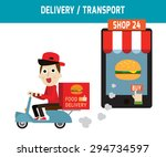 online ordering and fast food... | Shutterstock .eps vector #294734597