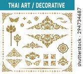 set of thai art element....   Shutterstock .eps vector #294734687