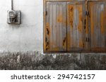 old windows and electric meters | Shutterstock . vector #294742157