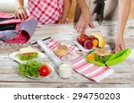 mother preparing healthy and... | Shutterstock . vector #294750203