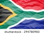 south africa flag. wavy flag of ... | Shutterstock . vector #294780983