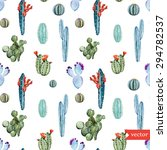 watercolor vector tropical... | Shutterstock .eps vector #294782537