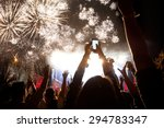 new year concept   cheering... | Shutterstock . vector #294783347