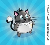 funny and cute cat | Shutterstock .eps vector #294789413