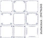 set of vector hand drawn blue... | Shutterstock .eps vector #294796343