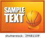 orange horizontal basketball... | Shutterstock .eps vector #29481109