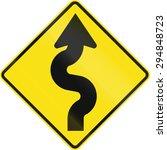 australian road warning sign  ... | Shutterstock . vector #294848723