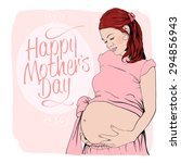 Graphic Portrait Of A Pregnant...