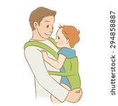 "daddy to hug the baby ""white... 