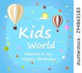 kids happy birthday celebration ... | Shutterstock .eps vector #294863183