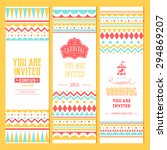 carnival banner collection.... | Shutterstock .eps vector #294869207