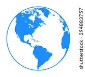 earth globe symbol | Shutterstock .eps vector #294883757