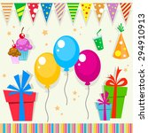 vector party item pack with... | Shutterstock .eps vector #294910913