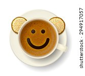 coffee cup with froth in the... | Shutterstock .eps vector #294917057