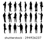 big set of black silhouettes of ... | Shutterstock . vector #294926237